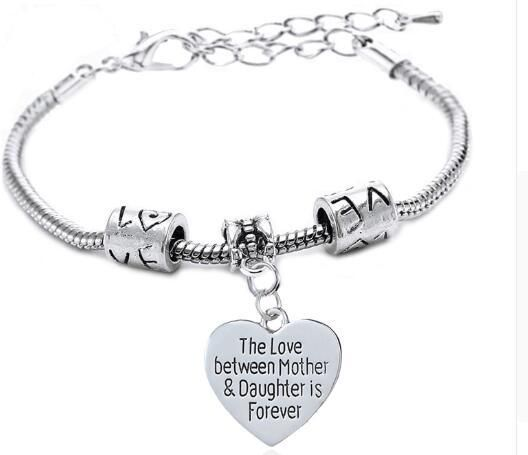 The Love Between Mother Daughter Is Forever Fashion Bracelet Bangles