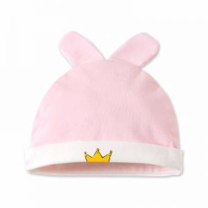 1 Pack Toddler Infant Baby Cotton Soft Cute Knit Kids Hat Beanies Cap  sleeping hat pink crown f2d08d89c