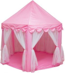 online retailer e825c b7217 Six Angle Pink Princess Castle Gauze Tent House Girl Children Large Indoor  Outdoor Toy Game House Kids Ball Play Tents