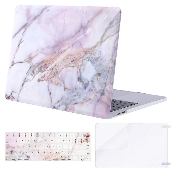 finest selection 23893 a564b Mosiso MacBook Pro 15 Case 2018 & 2017 & 2016 Release A1990 / A1707,  Plastic Pattern Hard Case Shell with Keyboard Cover with Screen Protector  for ...