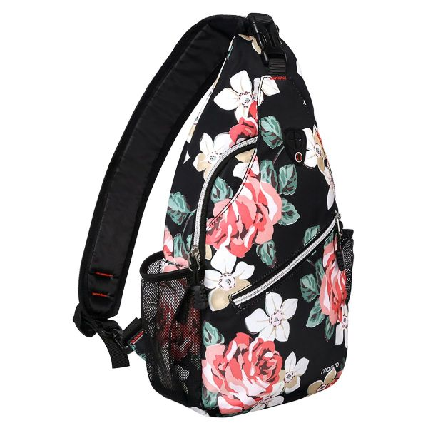 MOSISO Sling Backpack, Polyester Crossbody Shoulder Bag for Men Women Girls  Boys, Rose 450014b7e1