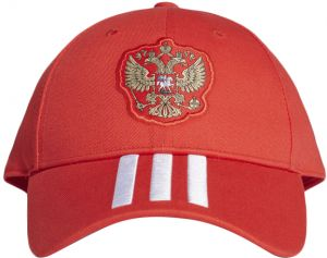 c9f875f6216 adidas Russia 3-Stripes Soccer Cap for Men- Red   White