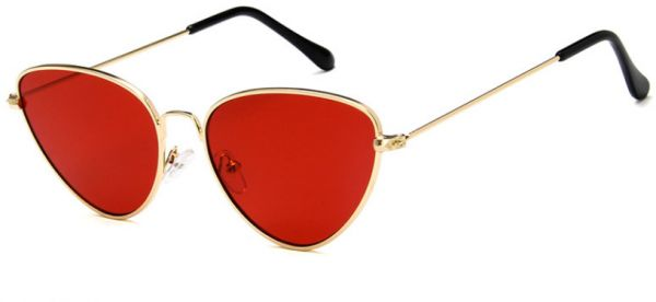 a069f73af68b Cat Eye Sunglasses Full Rim Metal Golden Frame Women Sunglass (Red). by  Other