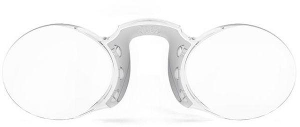 730632dc9c Nooz Wherever you go Armless Reading Glasses Oval +1 Silver