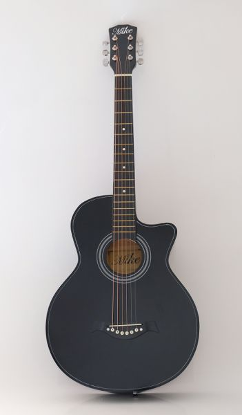 MIKE ACOUSTIC GUITAR BLACK 38INCH