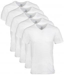 1f62353ebf86e Gildan Men s V-Neck T-Shirts 5 Pack
