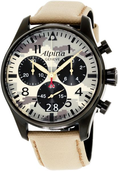 Souq Alpina Startimer Mens Multi Color Dial Nylon Band Watch AL - Alpina startimer