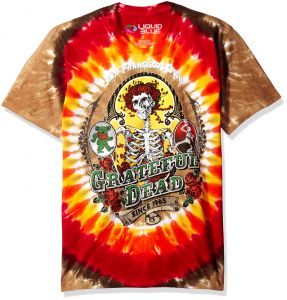 8bbd6043aa4 Liquid Blue Men s Big and Tall Grateful Dead Bay Area Beloved Tie Dye Short  Sleeve T-Shirt