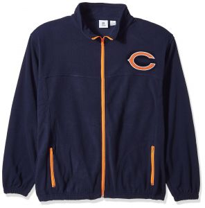 NFL Chicago Bears Men FULL ZIP POLAR FLEECE 4f277301d