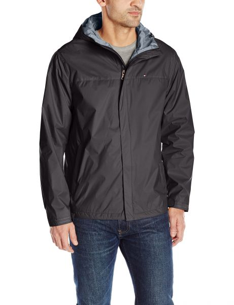 Tommy Hilfiger Mens Waterproof Breathable Hooded Jacket Black X Large