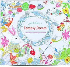 24 Pages Fantasy Dream English Edition Coloring Book For Children Adult Relieve Stress Kill Time Painting Drawing With Color Pencil
