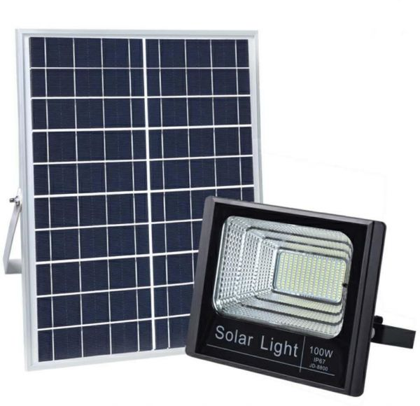 100w Solar Flood Light Sensor Remote Control Lamp Outdoor Waterproof Jd 8800 Warm White