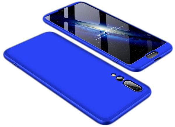 sports shoes c7d76 4928a Huawei P20 Pro Case, Fashion ultra Slim Gkk 360 3in1 Full Protection Cover  Case - Blue