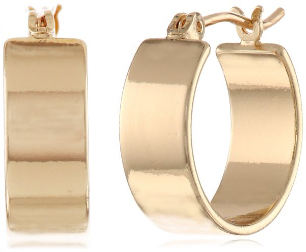 Kenneth Cole New York Modern Lucite Small Hoop Earrings