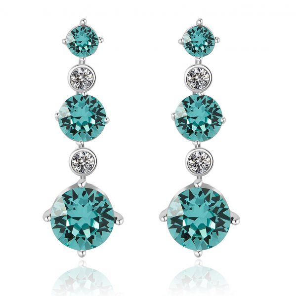 3d82a06f88db JOUDOO 16K Gold Crystal Earrings Diamond with Screw Back and Post Stud  Earrings (platinum)