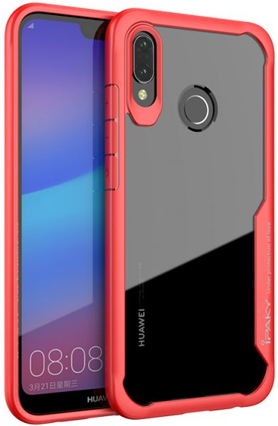 best sneakers ee2bd 0116e Huawei P20 Lite Back Case IpakY High qualitY - Red