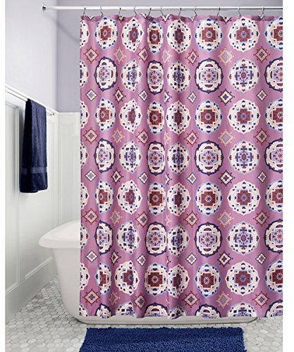 InterDesign Mora Medallion Fabric Shower Curtain Lavender Multi Colour 1829 X Cm