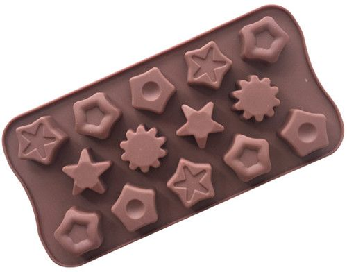 14 Grid Different Star Shape Silicone Chocolate Biscuits Mold Ice Tray Candy Decorative Utensils