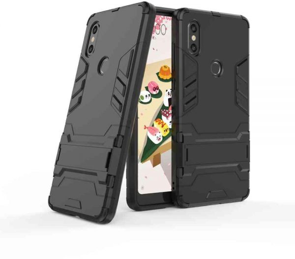 the latest 8d8a5 b114d Xiaomi Mi Mix 2S Iron Man Case With Stand Back Cover - Black