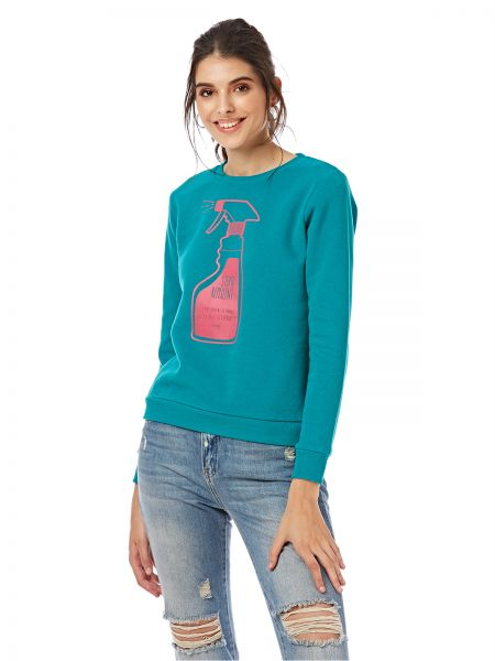 6270d07ca8305 ICONIC Pullover Top for Women - Green