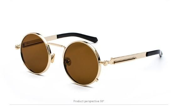 93ff1da949a Men Women Sunglasses Steampunk Round Anti-UV Polarized Metal Frame Retro  Sun Glasses Mirror UV400 Brand Design Women and Men Eyewear Polarized  Vintage ...