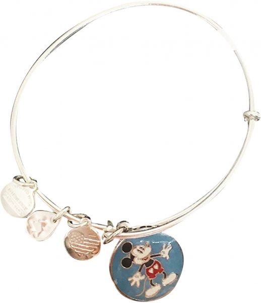 Alex And Ani Metal Mickey Mouse Heart Shorts Charm Bracelet For Kids