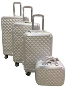 95f93ee095e9f Travel Luggage Trolley bags 3 Pieces Set and 1 Piece Beauty Case