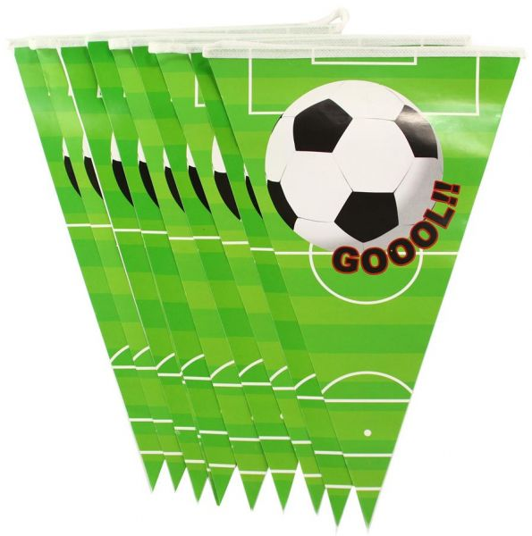 25 M Soccer Football Party Banner World Cup Themed Decoration Pennant String Flags 10
