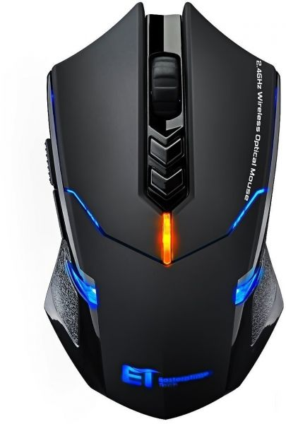 78aa1bb21ba VicTsing Wireless Mouse Ergonomic Gaming Mice with Silent Click, LED  Backlight, 7 Buttons, Adjustable 2400 DPI, Nano Receiver for Game PC Laptop  Computer ...
