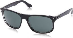 1b7c88d34a07 Ray-Ban INJECTED MAN SUNGLASS - TOP MATTE BLACK ON TRASP Frame DARK GREEN  Lenses 59mm Non-Polarized