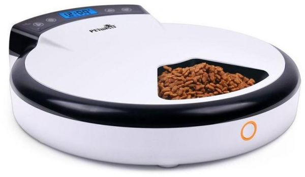 Petwant PF-105 Automatic Timer 5 Meal Setting Pet Feeder Portion Control Food Dispenser for Cat and Dog