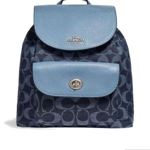 Coach F25893 Mini Billie Backpack bag signature Denim Blue f6015d69c8036