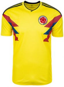 2018 World cup football clothing Colombia team jersey Personality short-sleeved  T-shirt fans M code 3c2a2b07d
