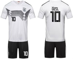 2018 world cup Football Jersey Germany Team No.10 Ozil Football suits  Short-sleeved T-shirt - XL code 516453471