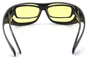 78852b11636 Unisex HD Night Vision Driving Sunglasses Yellow Lens Over Wrap Around  Glasses