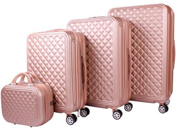 887493e80 Travel Luggage&Trolley Bags 3 Piece Set With Beauty Case ,Rose Gold ...