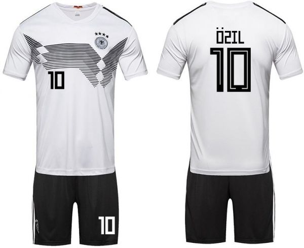 promo code 00d84 43cb8 2018 Russia World Cup Football Jersey Germany Team No.10 Ozil Football  suits Short-sleeved T-shirt - S code