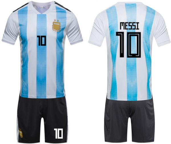 official photos 6e3f0 3c5d7 2018 Russia World Cup Football Jersey Argentina Team No.10 ...