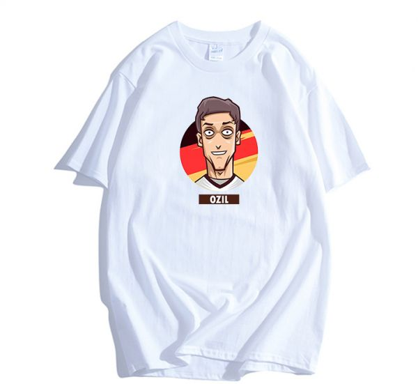 0ee7e5c14 FIFA World Cup Russia Soccer Germany team Fans Ozil Jersey Short-sleeved  Cotton T-shirt M code