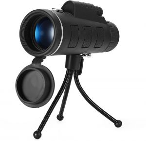 Monocular Telescope High Power 40x60 Monoculars Spotting Scope, Low Night Vision with Phone Clip and Tripod for Bird Watching Hunting Camping Hiking ...