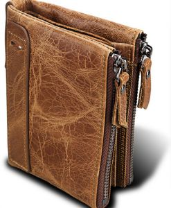 Men Leather Wallet RFID Blocking Men's Wallets Credit Card Holder Coin Pocket Purse ,mens' wallet is made of genuine cowhide leather.