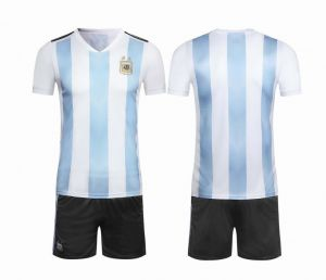 Argentina Team 2018 FIFA World Cup Football Jersey suits Short-sleeved T- shirt - M code 54629bb7f