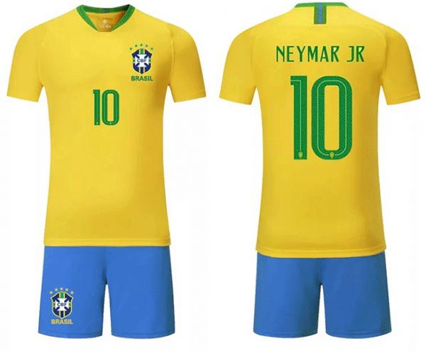 FIFA Russia world cup 2018 Football Brasil national team No.10 Neymar Jr  Football suit Short-sleeved T-shirt  5fca4f997