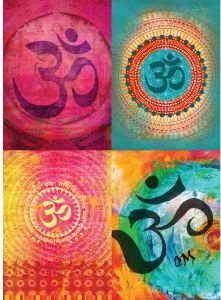 Tree Free Greetings Om.One With The Universe All Occasion Card Assortment,  5 X 7 Inches, 8 Cards And Envelopes Per Set (GA31436)