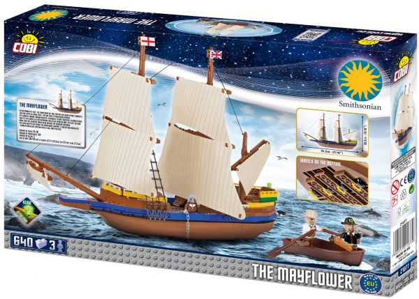 5fc3f696cceb Cobi 640 Pieces Smithsonian Pilgrim Ship Mayflower