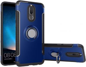 Huawei Mate 10 Lite Magnetic Hybrid Ring Holder Protect Case Cover - Blue