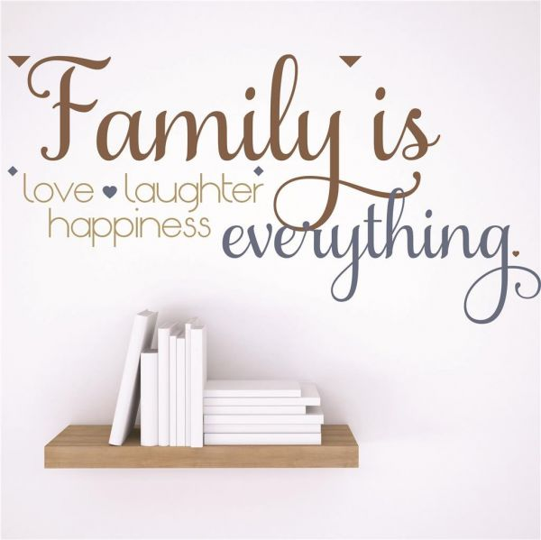 Design With Vinyl Rad 39 2 Decor Wall Decal Sticker Family Is Love