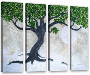 ArtWall Jan Weiss Moonflower II 4-Piece Gallery-Wrapped Canvas Artwork Square48 by 48