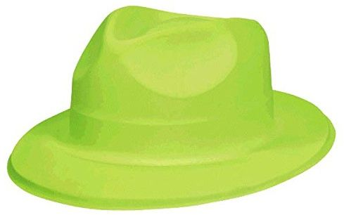 Disco Fever 70 s Party Lime Green Fedora Hat Accessory 5f4d2ffb59a7