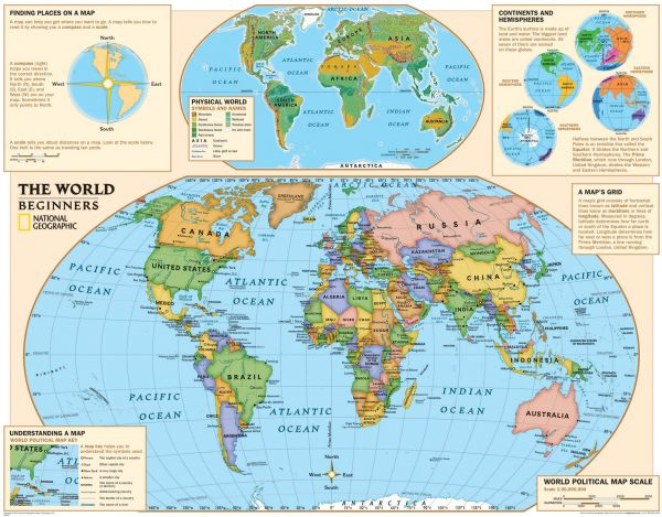 Souq national geographic kids beginners world education grades k national geographic kids beginners world education grades k 3 wall map laminated 51 x 40 inches national geographic reference map gumiabroncs Choice Image